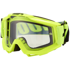 100% Accuri Goggle Anti Fog Clear Lens / fluo yellow